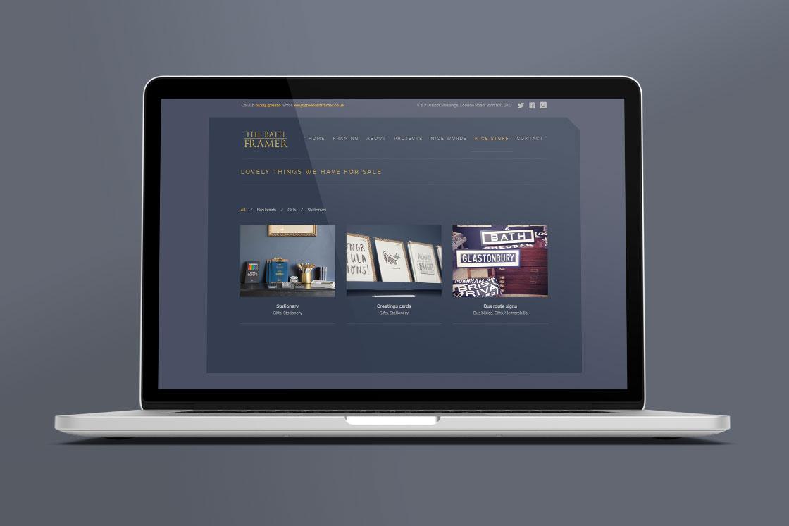 Bath Framer website design page 2