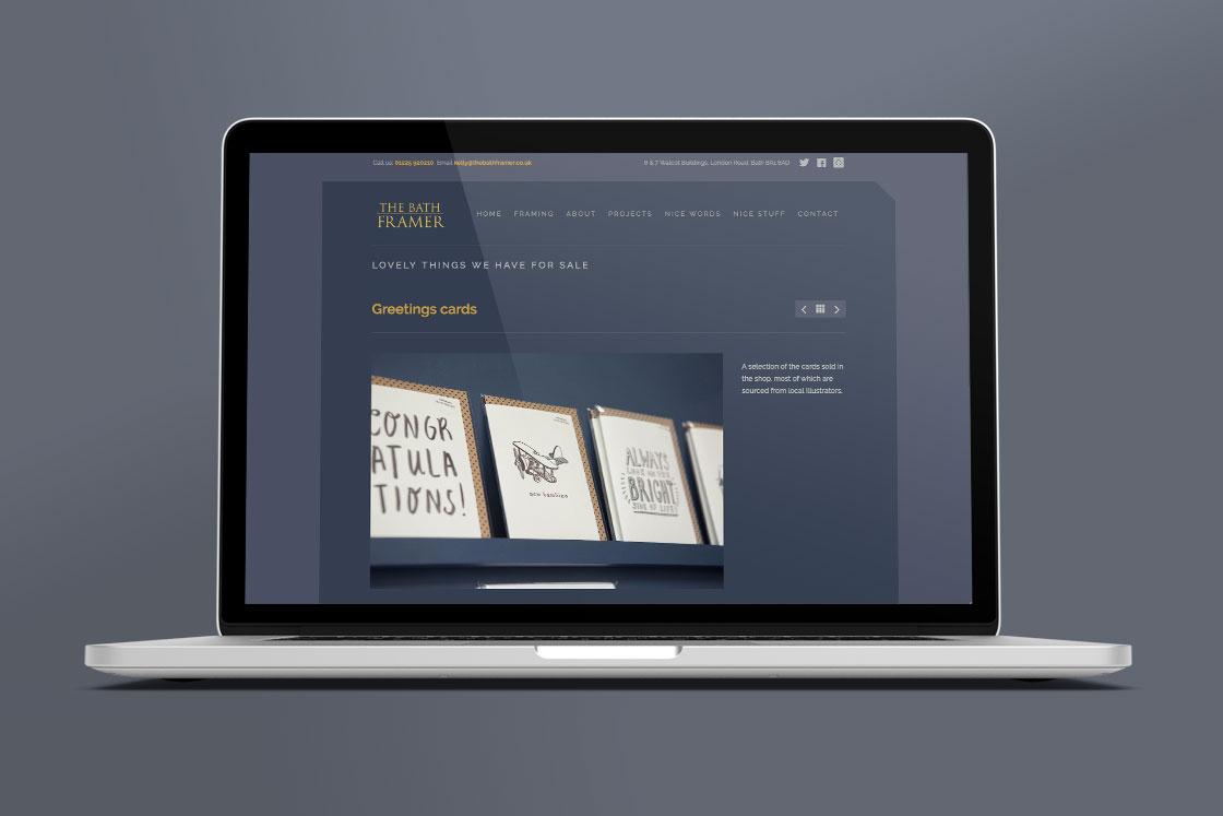 Bath Framer website design page 3
