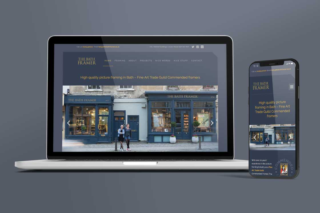 The Bath Framer website design
