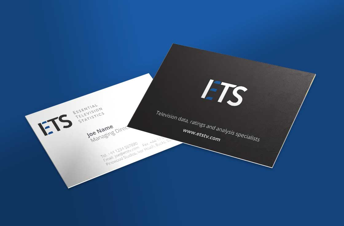 ETS business card design