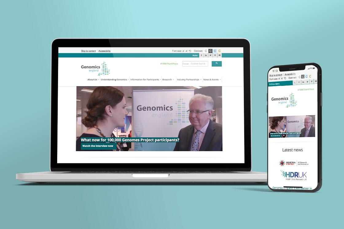 Genomics England website design