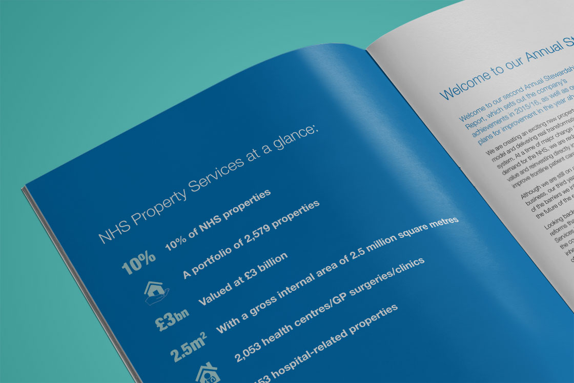 NHS Property Services Strategy Report text design