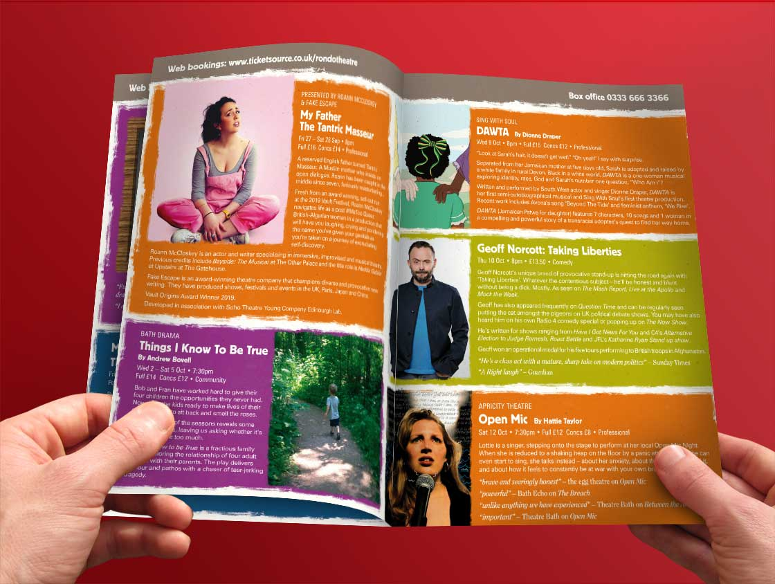 Rondo Theatre programme inner pages