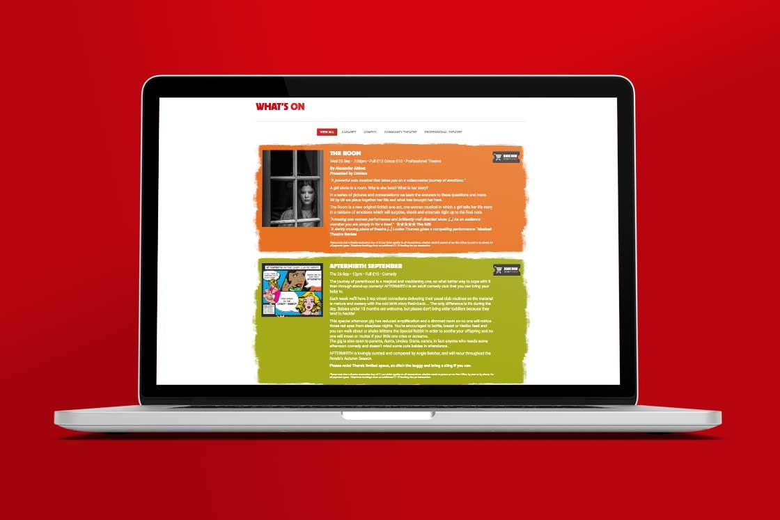 Rondo Theatre webpage design style 2