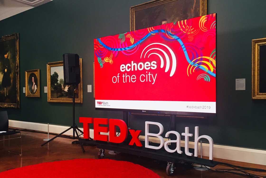 TEDxBath digital screen